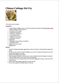 Recipe of the Month May 2015
